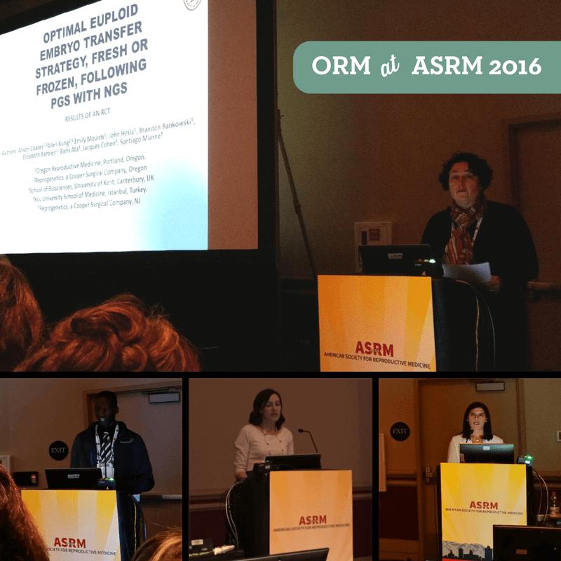 ORM at ASRM 2016