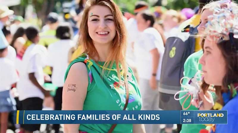 KGW8 - Celebrating families of all kinds