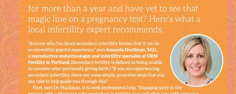 Second Infertility Advice From Fertility Expert